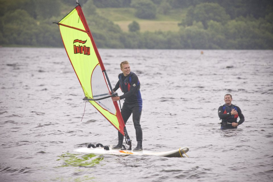 Windsurfing with Bala Adventure & Watersports