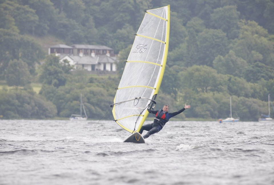 Windsurfing on Bala Lake